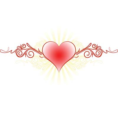 Feminine tribal heart Design Water Transfer Temporary Tattoo(fake Tattoo) Stickers NO.11279