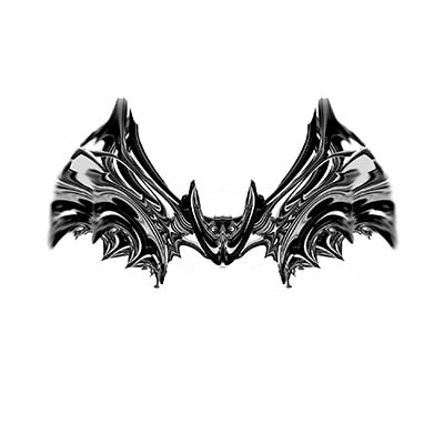 Funny Heart Bat Design Water Transfer Temporary Tattoo(fake Tattoo) Stickers NO.11281