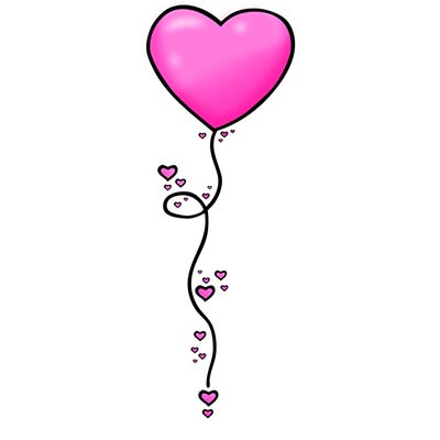 Heart balloon Design Water Transfer Temporary Tattoo(fake Tattoo) Stickers NO.11283
