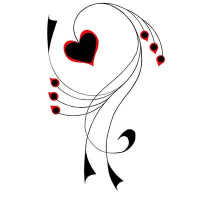 Hearts Design Water Transfer Temporary Tattoo(fake Tattoo) Stickers NO.11287