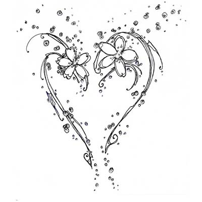 Hearts Design Water Transfer Temporary Tattoo(fake Tattoo) Stickers NO.11288