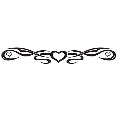 Lower back heart tribal Design Water Transfer Temporary Tattoo(fake Tattoo) Stickers NO.11295