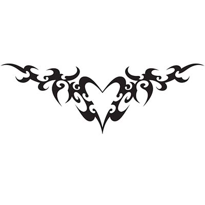 Lower back heart tribal Design Water Transfer Temporary Tattoo(fake Tattoo) Stickers NO.11296