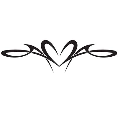 Tribal heart Design Water Transfer Temporary Tattoo(fake Tattoo) Stickers NO.11307