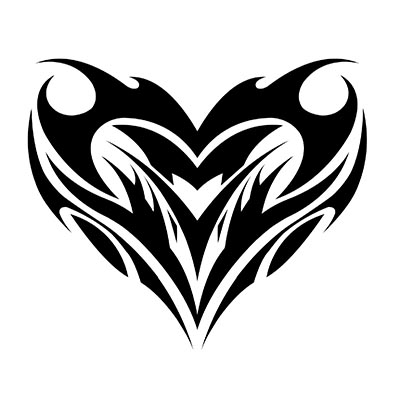 Winged Tribal Heart Design Water Transfer Temporary Tattoo(fake Tattoo) Stickers NO.11312