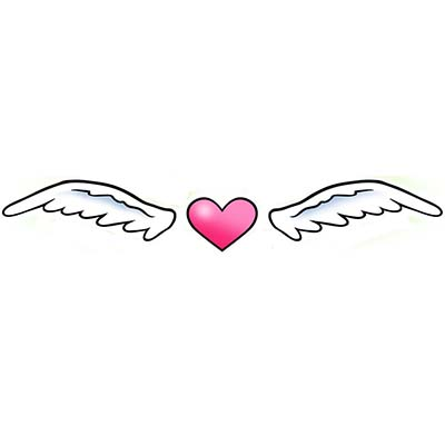 Winged heart Design Water Transfer Temporary Tattoo(fake Tattoo) Stickers NO.11311
