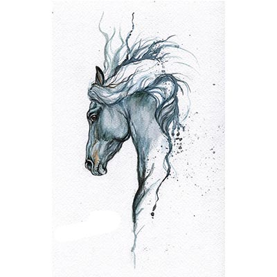 Horse Design Water Transfer Temporary Tattoo(fake Tattoo) Stickers NO.11317