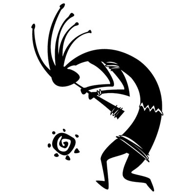 Dancing kokopelli Design Water Transfer Temporary Tattoo(fake Tattoo) Stickers NO.11341