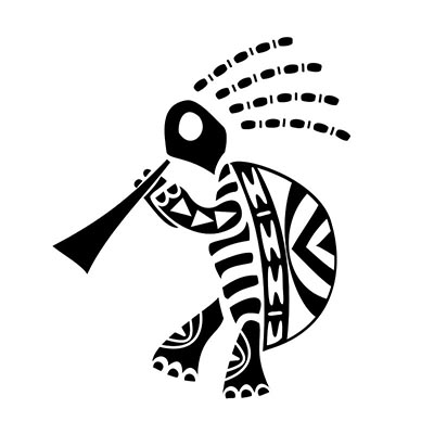 Kokopelli Design Water Transfer Temporary Tattoo(fake Tattoo) Stickers NO.11352