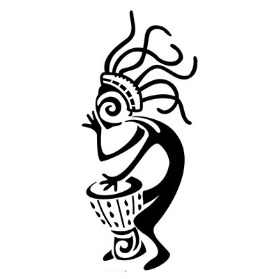 Kokopelli Kayak Design Water Transfer Temporary Tattoo(fake Tattoo) Stickers NO.11346