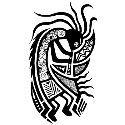 Multi Color Kokopelli Design Water Transfer Temporary Tattoo(fake Tattoo) Stickers NO.11353
