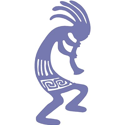 Outstanding Kokopelli Sample Design Water Transfer Temporary Tattoo(fake Tattoo) Stickers NO.11356