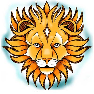 Lion Design Water Transfer Temporary Tattoo(fake Tattoo) Stickers NO.11357