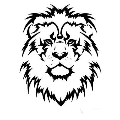 Lion tribal Design Water Transfer Temporary Tattoo(fake Tattoo) Stickers NO.11361