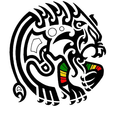 Tribal lion Design Water Transfer Temporary Tattoo(fake Tattoo) Stickers NO.11363