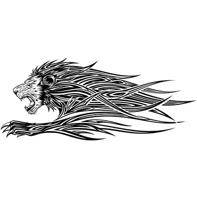 Tribal lion Design Water Transfer Temporary Tattoo(fake Tattoo) Stickers NO.11364