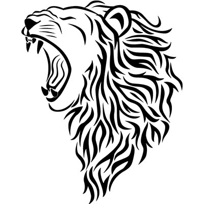 Tribal lion Design Water Transfer Temporary Tattoo(fake Tattoo) Stickers NO.11365