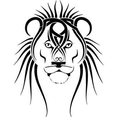 Tribal lion Design Water Transfer Temporary Tattoo(fake Tattoo) Stickers NO.11366