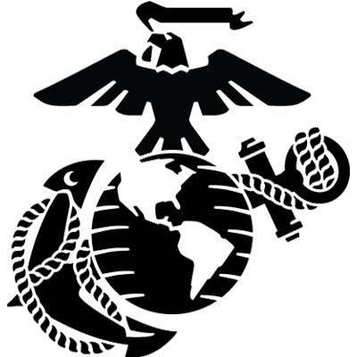 Outline Military Eagle Globe Anchor Design Water Transfer Temporary Tattoo(fake Tattoo) Stickers NO.11375
