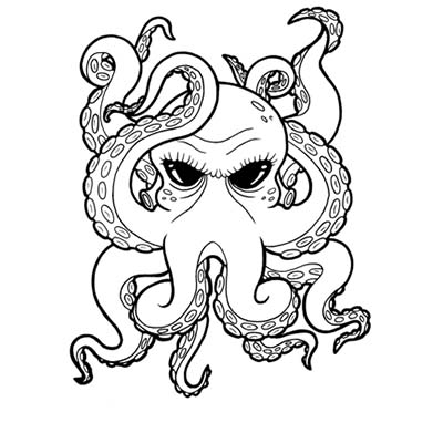 Octopus Design Water Transfer Temporary Tattoo(fake Tattoo) Stickers NO.11386
