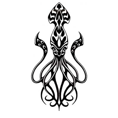 Octopus Design Water Transfer Temporary Tattoo(fake Tattoo) Stickers NO.11397