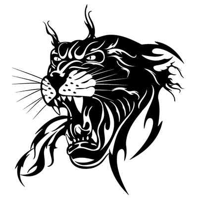 Black panther Design Water Transfer Temporary Tattoo(fake Tattoo) Stickers NO.11404