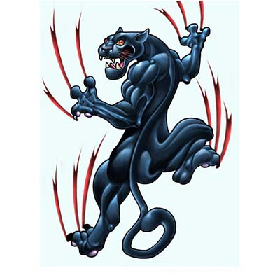 Classic panther Design Water Transfer Temporary Tattoo(fake Tattoo) Stickers NO.11407