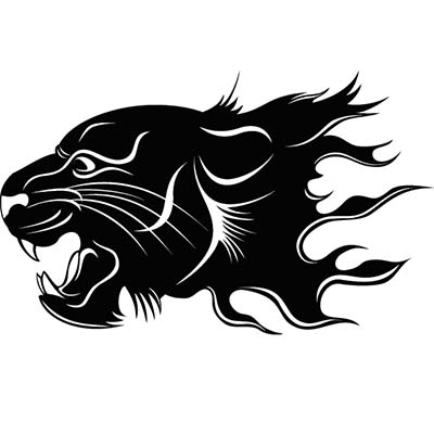 Panther head Design Water Transfer Temporary Tattoo(fake Tattoo) Stickers NO.11411