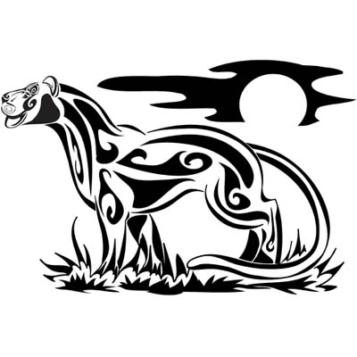 Tribal panther designs Water Transfer Temporary Tattoo(fake Tattoo) Stickers NO.11414