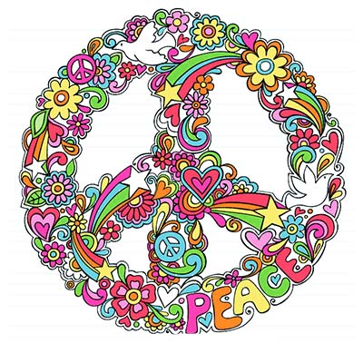 Colorful Peace Design Water Transfer Temporary Tattoo(fake Tattoo) Stickers NO.11418