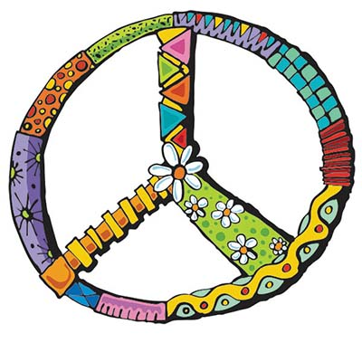 Colorful Peace Design Water Transfer Temporary Tattoo(fake Tattoo) Stickers NO.11419