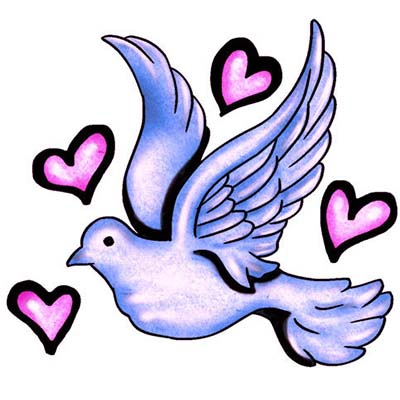 Peace Dove Design Water Transfer Temporary Tattoo(fake Tattoo) Stickers NO.11424