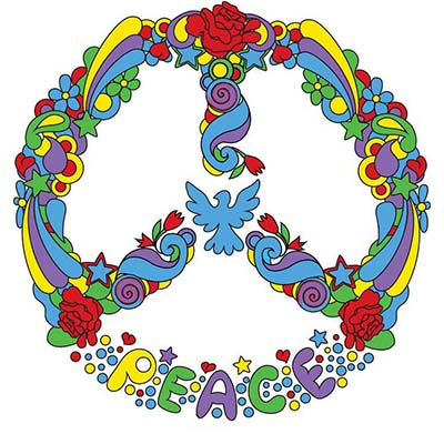 Peace Sign Art Design Water Transfer Temporary Tattoo(fake Tattoo) Stickers NO.11431