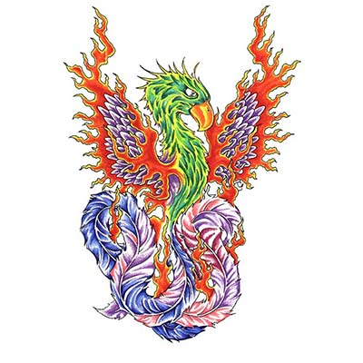 Phoenix Design Water Transfer Temporary Tattoo(fake Tattoo) Stickers NO.11446