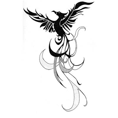 Phoenix Design Water Transfer Temporary Tattoo(fake Tattoo) Stickers NO.11452