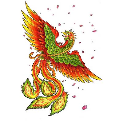 Phoenix Design Water Transfer Temporary Tattoo(fake Tattoo) Stickers NO.11457