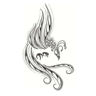 Phoenix Flash Design Water Transfer Temporary Tattoo(fake Tattoo) Stickers NO.11445