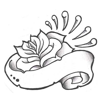 Drawing For Rose Design Water Transfer Temporary Tattoofake