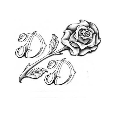 Gun n Rose On Back Of Shoulder Design Water Transfer Temporary Tattoo(fake Tattoo) Stickers NO.11473