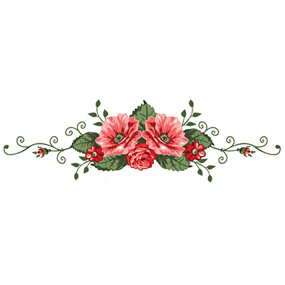 Lower Back Rose Design Water Transfer Temporary Tattoo(fake Tattoo) Stickers NO.11475
