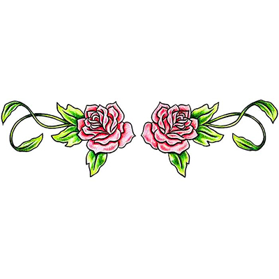 Lower Back Rose Design Water Transfer Temporary Tattoo(fake Tattoo) Stickers NO.11476