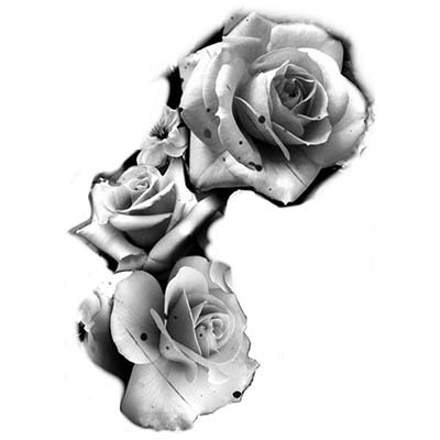 Rose Design Water Transfer Temporary Tattoo(fake Tattoo) Stickers NO.11465