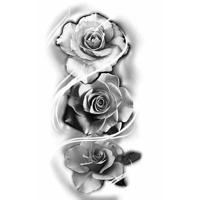 Rose Design Water Transfer Temporary Tattoo(fake Tattoo) Stickers NO.11470