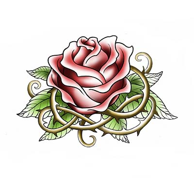 Rose Design Water Transfer Temporary Tattoo(fake Tattoo) Stickers NO.11491