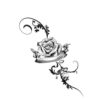 Rose On Inner Wrist Design Water Transfer Temporary Tattoo(fake Tattoo) Stickers NO.11493