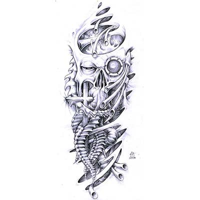 Skull Design Water Transfer Temporary Tattoo(fake Tattoo) Stickers NO.11522
