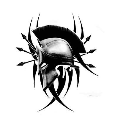 Spartan Design Water Transfer Temporary Tattoo(fake Tattoo) Stickers NO.11545
