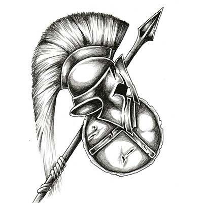 Spartan Design Water Transfer Temporary Tattoo(fake Tattoo) Stickers NO.11548