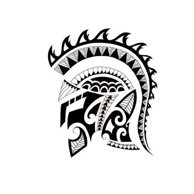 Spartan Design Water Transfer Temporary Tattoo(fake Tattoo) Stickers NO.11552