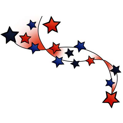 Shooting Stars Design Water Transfer Temporary Tattoo(fake Tattoo) Stickers NO.11557
